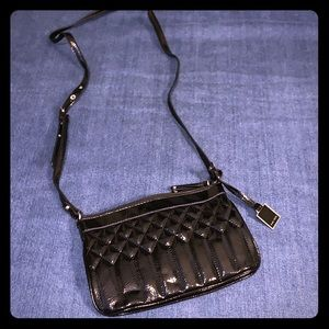 Nine West stitches Patent leather crossbody
